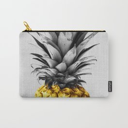Gray and golden pineapple Carry-All Pouch