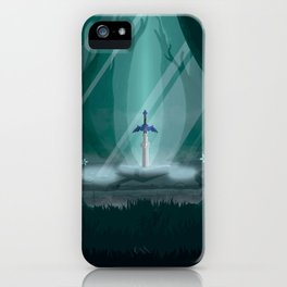 Lost Woods Travel Poster iPhone Case