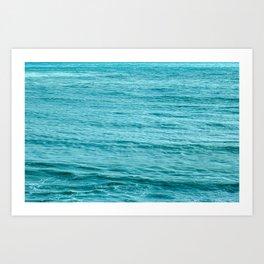 Blue Smooth Water Art Print
