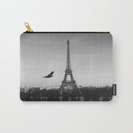 paris black and white Carry-All Pouch