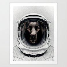 Pluto Astro Dog Art Print