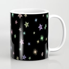 Colored Sparkling Stars Coffee Mug