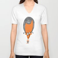 woody V-neck T-shirts featuring Woody by ilusland .:. marcelo BAdARI