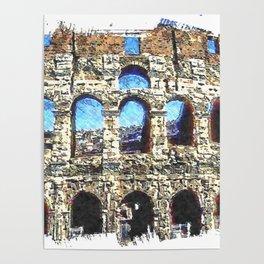 FORUM ROMANUM COLOSSEUM Poster