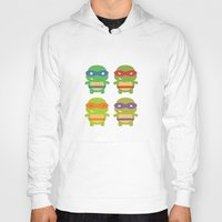 teenage mutant ninja turtles Hoodies featuring Teenage Mutant Ninja Kawaii Turtles by geraldbrio