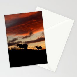 Midnight sun Icelandic sheep Stationery Cards