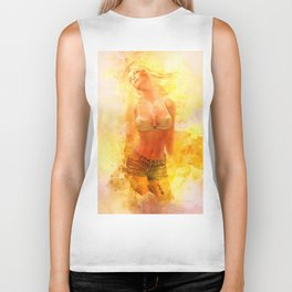The Girl with the Sun in Her Hair IV Biker Tank