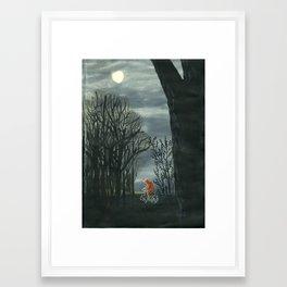 Bear Riding Home Framed Art Print