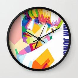 Kim Jong Hyun In Pop Art Wall Clock