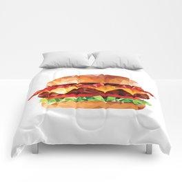 Geometric Bacon Cheeseburger Comforters