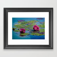 Two water lilies Framed Art Print