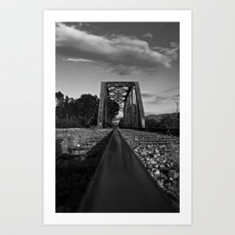 On the rail Art Print