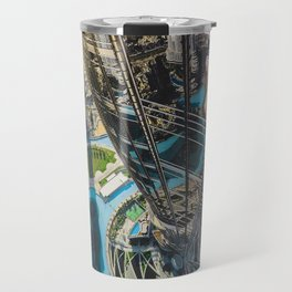 Dubai from the tallest building in the world Travel Mug