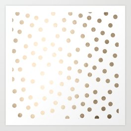 Simply Dots in White Gold Sands Art Print