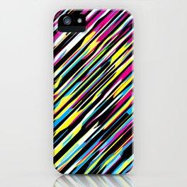 Diagonals color mix iPhone Case