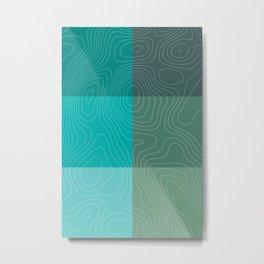 Topography Metal Print