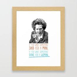 Iron Lady - Feminism Framed Art Print