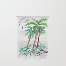 """""""Triplet Palms"""" Wall Hanging"""