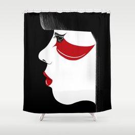 Modern Geisha Shower Curtain