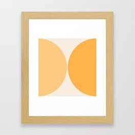 Curvature Minimalism - Golden Two Tone Framed Art Print