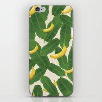 banana leaf iPhone & iPod Skins featuring banana by aisyrahma