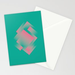 two energies green pink labyrinth Stationery Cards