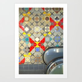 Detroit People Mover Art Broadway Fort and Cass Art Print