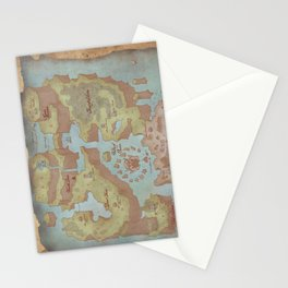 Super Mario World Map (Vintage Style) Stationery Cards