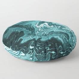 Yumiko - spilled ink painting abstract minimal ocean wave water sea monochromatic trendy hipster art Floor Pillow