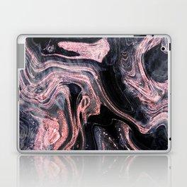 Stylish rose gold abstract marbleized design Laptop & iPad Skin