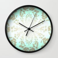 tiffany Wall Clocks featuring Ethereal Tiffany by 2sweet4words Designs
