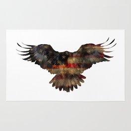 US Flag on Eagle Rug