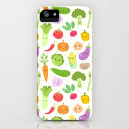 Bell pepper cherry tomatoes and Guinea pigs pattern iPhone 11 case