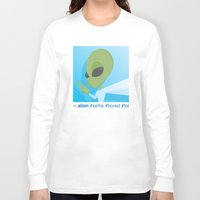 selfie Long Sleeve T-shirts featuring Selfie by Michael Patrick