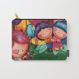 Love Angel - Fun, sweet, unique, creative and very colorful, original, acrylic children illustration Carry-All Pouch