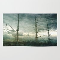 sailboat Area & Throw Rugs featuring Sailboat by Fine2art
