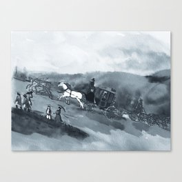 The Old Stagecoach Canvas Print