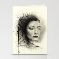 lorde Stationery Cards featuring Lorde by Creadoorm