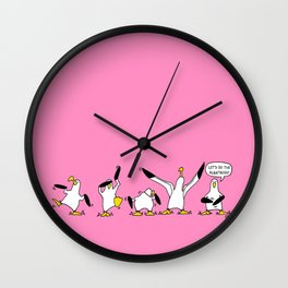 Dancing Albatrosses Wall Clock