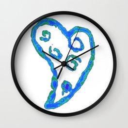 Blue Jade Love Wall Clock