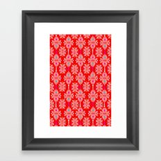 Stella in Red Pattern Framed Art Print