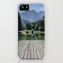 Green Lake nature iPhone Case