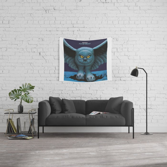 Rush Fly By Night Wall Tapestry