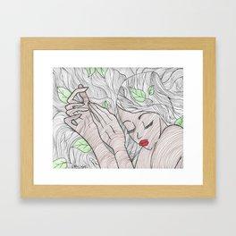 Read Between the Lines Framed Art Print