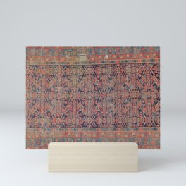 Traditional vibrant rug Mini Art Print