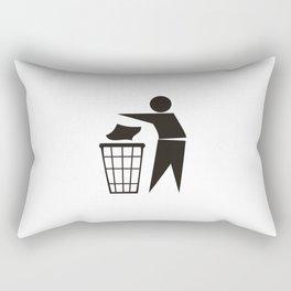 trash can sign Rectangular Pillow