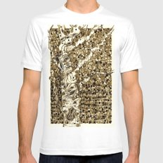 Autumn Aspen Mens Fitted Tee White MEDIUM