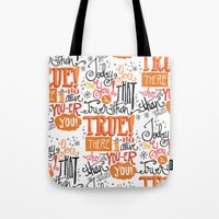 dr seuss Tote Bags featuring TODAY YOU ARE YOU... - DR. SEUSS by Matthew Taylor Wilson