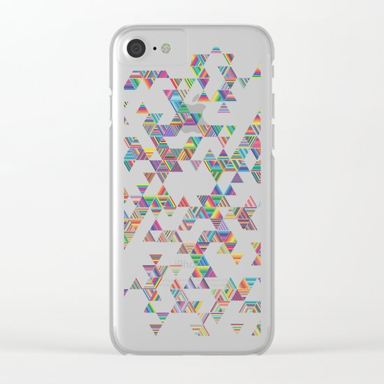 Rainbow Night Rain Clear iPhone Case