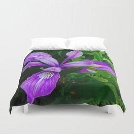 Wild Purple Iris Duvet Cover